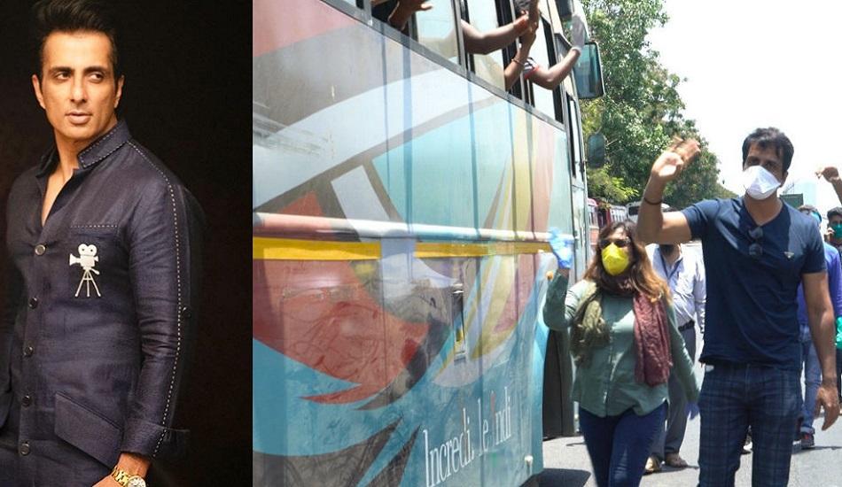 লকডাউনের মধ্যে বাস জোগাড় করে পরিযায়ী শ্রমিকদের বাড়িতে পৌঁছে দিচ্ছেন সোনু সুদ