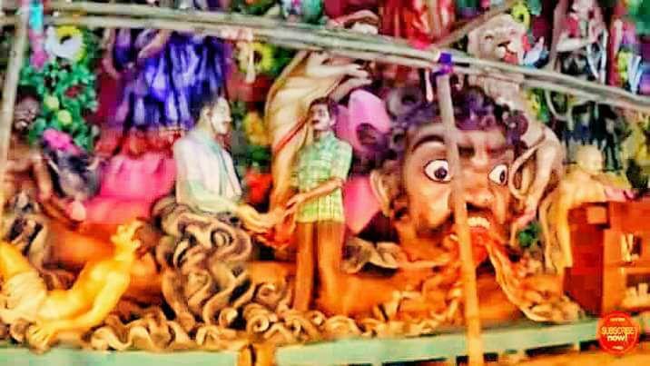 ডাক্তারী পেশাকে অসুর বলে নিজেদের অসুর প্রতিপন্ন করলো মহম্মদ আলী পার্কের পুজা কমিটি